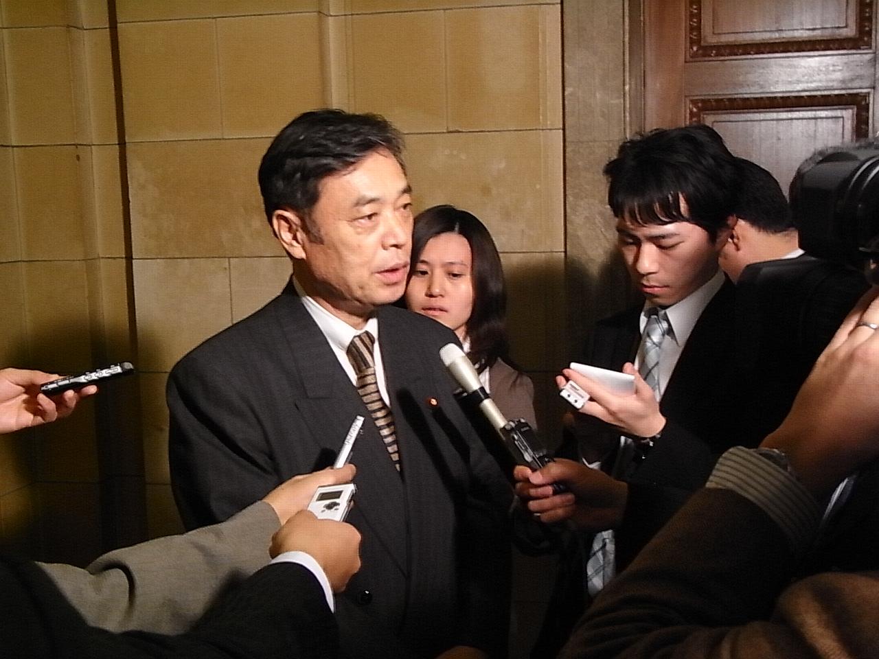 補正予算・施政演説について会見