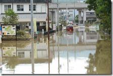 福知山市の冠水状況
