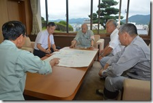 福知山松本市長を激励