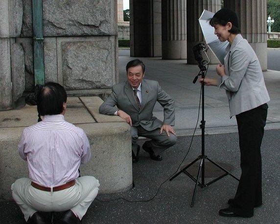 「政界華肖像」のポートレート撮影