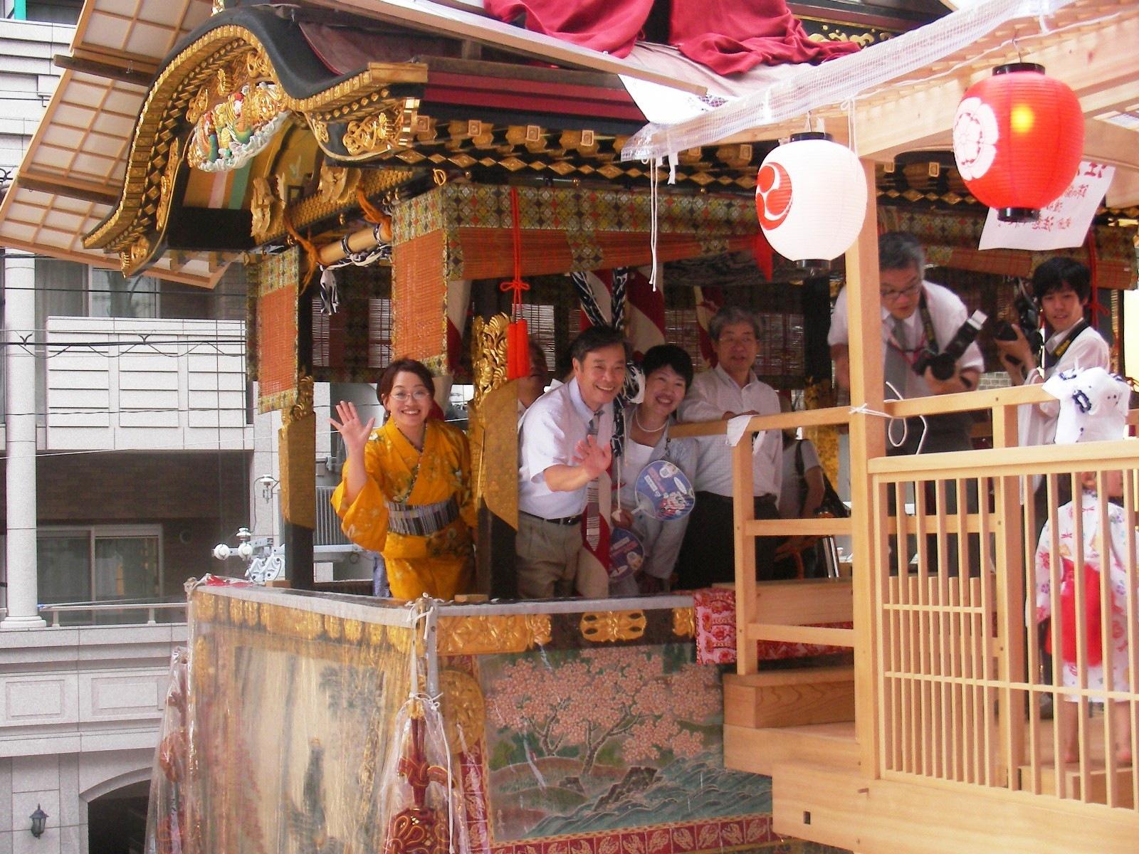 祇園祭 菊水鉾上で