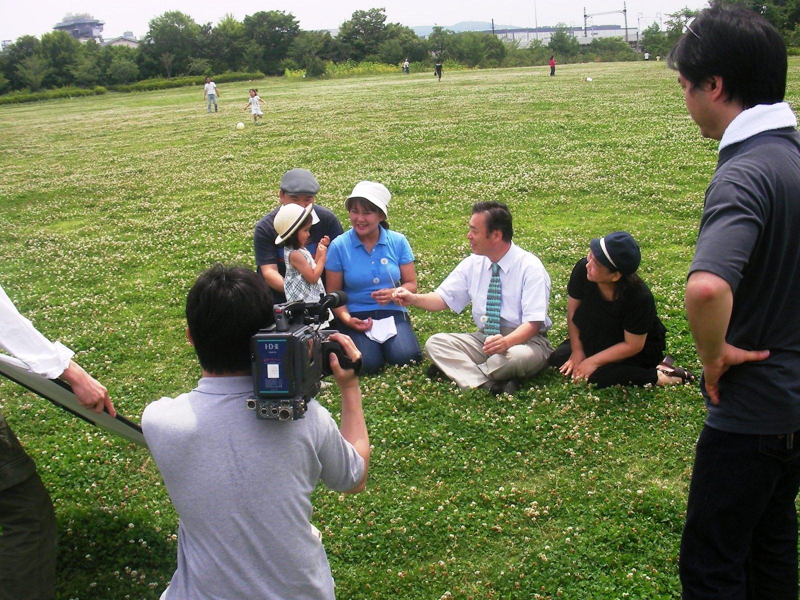 梅小路公園でビデオ撮影