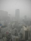 東京の雪、宿舎から