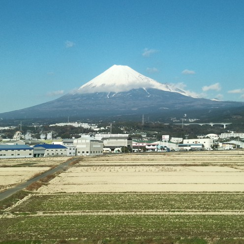 富士山と田園