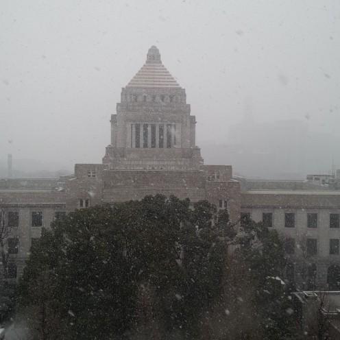 雪の議事堂