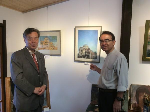 井坂さんと西田伸遺作展