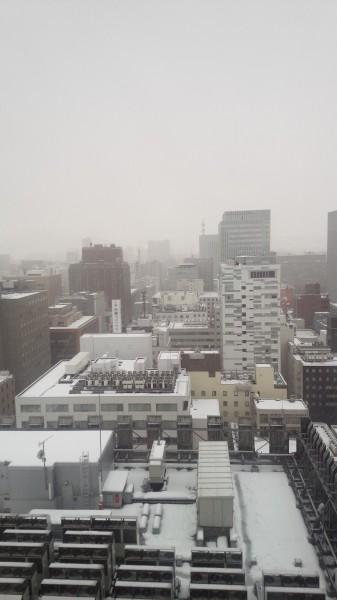 札幌雪模様