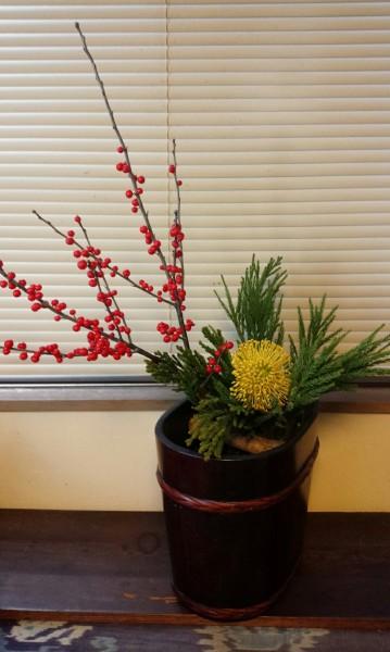 わが家の新年の花