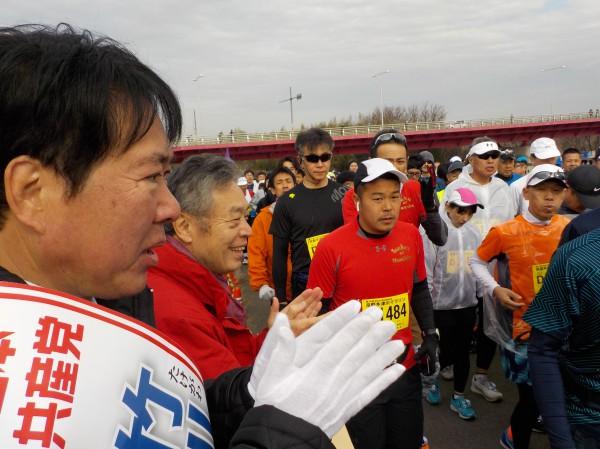 木津川マラソン 激励1