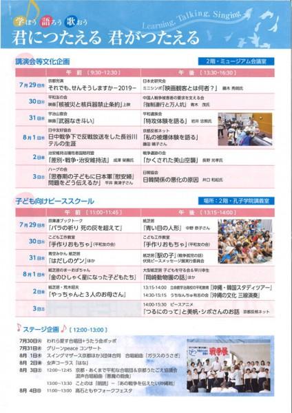 2019京都戦争展②