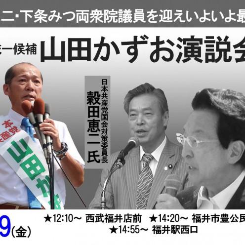 20190719 福井市の街頭演説チラシ